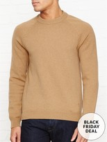 Paul Smith Merino Wool Crew Neck Jumper- Camel