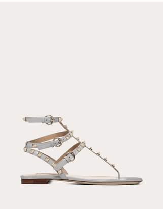 Valentino Garavani Patent Rockstud Flat Sandal