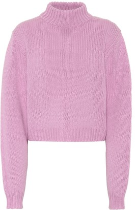 The Row Tabeth cropped cashmere sweater