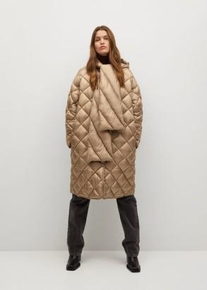 MANGO Oversize quilted coat