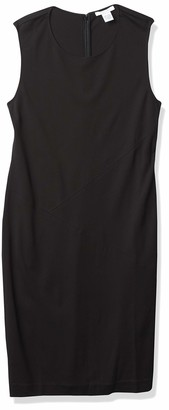 Joan Vass Women's Seamed Sleeveless Dress