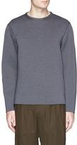Theory Raw edge neoprene sweatshirt
