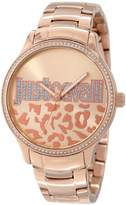 Just Cavalli Women's R7253127507 Huge Rose Gold Ion-Plated Coated Stainless Steel Swarovski Crystal Watch