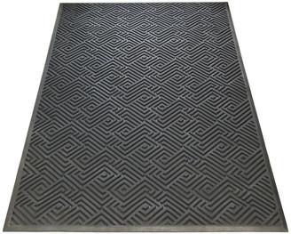 "A1 Home Collections LLC Maze Design Natural Rubber 36""x60"" Scraper Doormat, Tapered Edges"