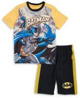 Nannette Little Boys Batman Tee and Shorts Set