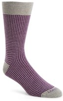 Lorenzo Uomo Men's Houndstooth Socks