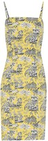 STAUD Basset printed cotton dress