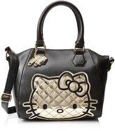 Hello Kitty Hand Bag Silver and White Leopard Mini Convertible santb1322