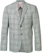 Thom Browne checked blazer - men - Cupro/Cotton - 2