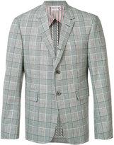 Thom Browne plaid blazer - men - Cotton/Cupro - 1