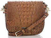 Brahmin Toasted Almond Collection Mini Sonny Crocodile-Embossed Cross-Body Bag