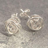 Otis Jaxon Silver Jewellery Nest Stud Sterling Silver Earrings