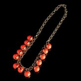 Gold-rimmed bauble necklace