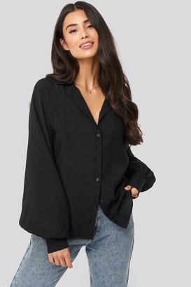 Di Lara Dilara X NA-KD Puff Sleeve Shirt Black
