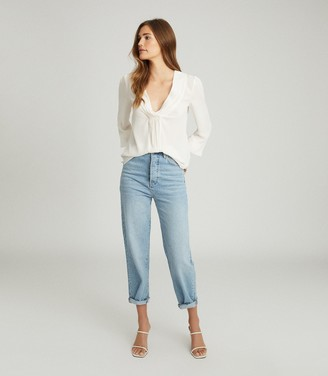 Reiss BRIDGETTE GATHER DETAILED BLOUSE White