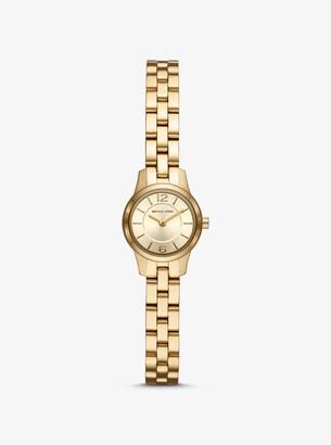 Michael Kors Extra Petite Runway Gold-Tone Watch