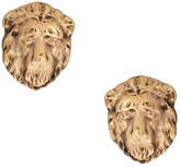 And Mary Lion Head Stud Earrings