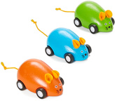 Orange, Green & Blue Pull-Back Mice Set