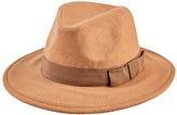 San Diego Hat Company Camel Faux Wool & Grosgrain Trim Fedora