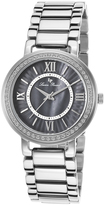 Lucien Piccard Black Mother-of-Pearl Alice Bracelet Watch - Women