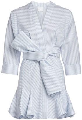Acler Lipton Tie-Waist Stripe Shirtdress