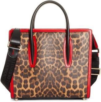 Christian Louboutin Medium Paloma Leopard Print Leather Tote