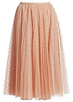RED Valentino Women's Sparkle Dot Skirt