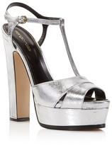 Sergio Rossi Edwige T Strap Platform Sandals