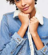 LOFT Fleece Lined Denim Jacket