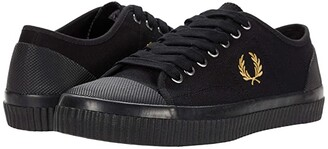Fred Perry Hughes Low Canvas (Black/Champagne) Men's Shoes