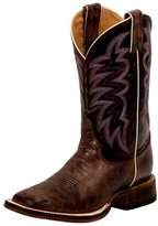 Justin Western Boots Womens Cowboy Square Toe Bronze Cedro BRL372