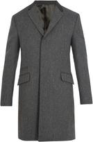 Prada Contrast-collar single-breasted wool coat