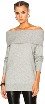 Alexander Wang Cashwool Off Shoulder Sweater