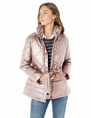 Big Chill Women's Plus Size Belted Down Blend Puffer Jacket