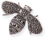 Goldmajor Marcasite & 925 Sterling Silver with Garnet Eyes Giant Bumble Bee Brooch