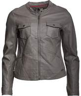 Converse Womens Sabra Pocket Biker Jacket Charcoal Grey