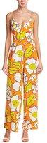 Trina Turk Women's Zadie Ana Capri Floral Silk Crepe De Chine Jumpsuit