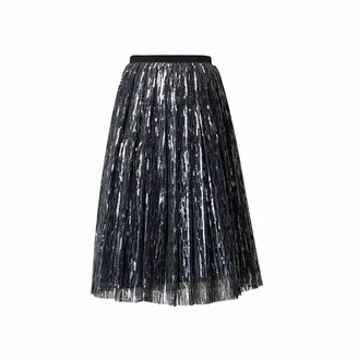 Rumour London Fairy Midi Sequined Skirt In Silver