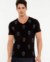 Le Château Skull Print Cotton Blend T-shirt