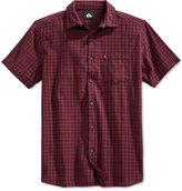 Quiksilver Men's Pacific Sound Plaid Short-Sleeve Shirt