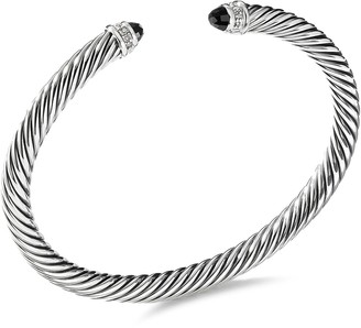 David Yurman 'Cable Classics' diamond onyx silver cuff