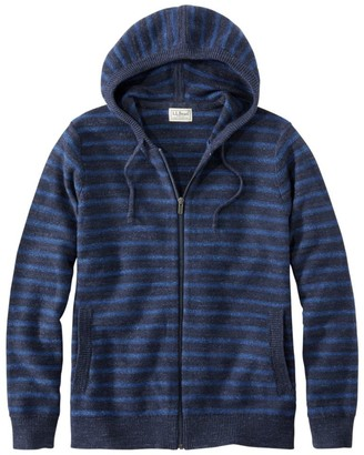 L.L. Bean Men's Textured Organic Cotton Sweater, Hooded, Stripe