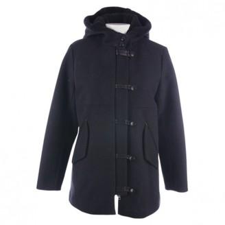 Sandro Navy Cotton Coat for Women