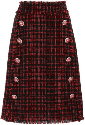 Dolce & Gabbana Tweed Midi Skirt