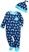 Offspring Fox Footie & Hat Set (Baby Boys)