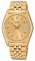Seiko Men's Dress Goldtone Watch with GoldtoneDial