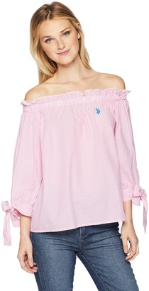 U.S. Polo Assn. Women's Long Sleeve Fashion Blouse