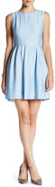 Anne Klein Vertical Pleat Fit & Flare Dress