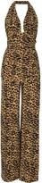 Norma Kamali Bill leopard-print jumpsuit