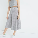 Madewell Side-Button Midi Skirt in Rhoda Stripe